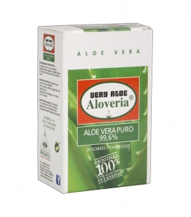 Gel Aloe Vera Puro 99.6% Aloveria - set 20 sobres monodosis 20x4ml 100% biológico y natural